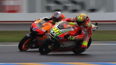 Le Mans 2012 - MotoGP - Race - Action - Stoner and Rossi