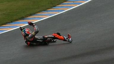 Le Mans 2012 - Moto2 - Race - Action - Alex De Angelis - Crash