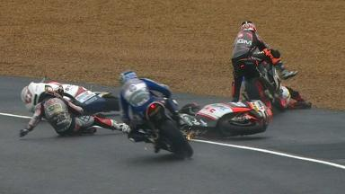 Le Mans 2012 - Moto2 - Race - Action - Multiple Crash
