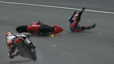 Le Mans 2012 - Moto2 - Race - Action - Ricard Cardus - Crash
