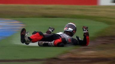 Le Mans 2012 - Moto2 - Race - Action - Mike Di Meglio - Crash