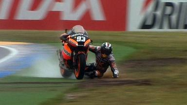 Le Mans 2012 - Moto2 - Race - Action - Marc Marquez - Crash