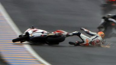 Le Mans 2012 - Moto2 - Race - Action - Gino Rea - Crash