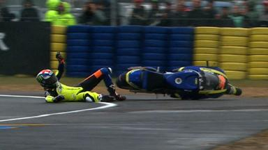 Le Mans 2012 - Moto2 - Race - Action - Bradley Smith - Crash