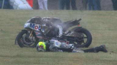Le Mans 2012 - Moto2 - Race - Action - Johann Zarco - Crash