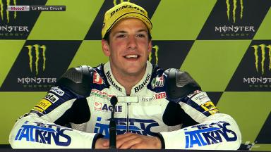 Le Mans 2012 - Moto2 - Race - Interview - Claudio Corti