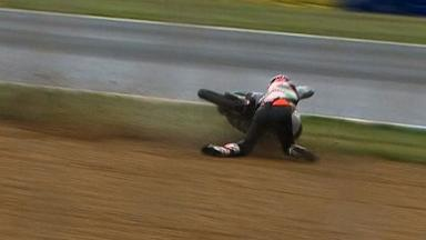 Le Mans 2012 - Moto3 - Race - Action - Niklas Ajo - Crash