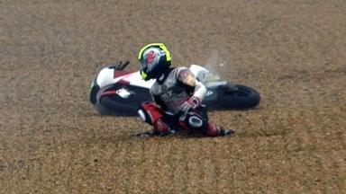 Le Mans 2012 - Moto3 - Race - Action - Kenta Fujii - Crash