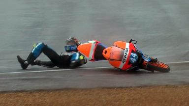 Le Mans 2012 - Moto3 - Race - Action - Miguel Oliveira - Crash