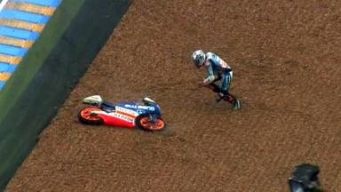 Le Mans 2012 - Moto3 - Race - Action - Maverick Viñales - Crash