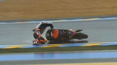 Le Mans 2012 - Moto3 - Race - Action - Sandro Corteses - Crash