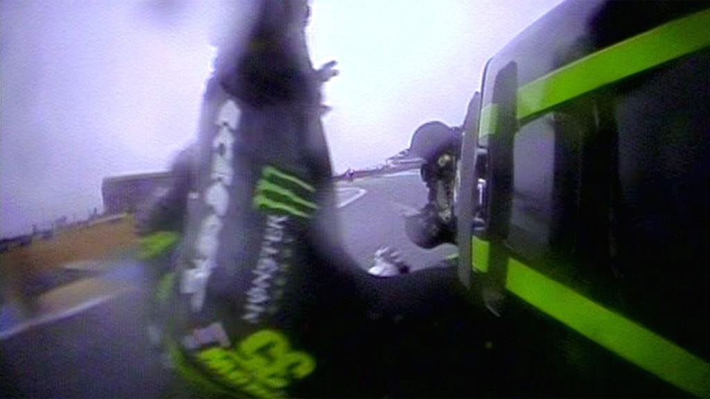 Cal Crutchlow, Monster Yamaha Tech 3 - Warm-up crash