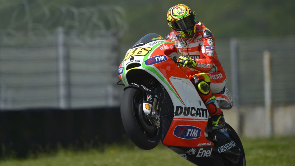 Valentino Rossi, Mugello Test, Day 2