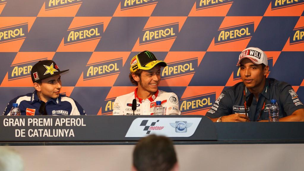 Lorenzo, Rossi, Hernandez, Yamaha Factory Racing, Avintia Blusens, Gran Premi Aperol de Catalunya Press Conference