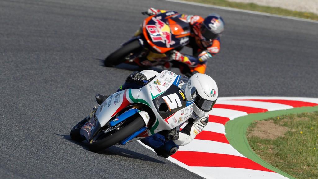 Romano Fenati, Team Italia FMI, Catalunya Circuit FP1