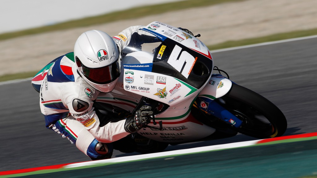 Romano Fenati, Team Italia FMI, Catalunya Circuit FP2