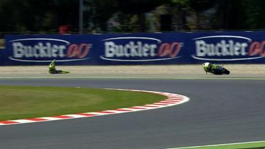 Catalunya 2012 - Moto2 - FP1 - Action - Andrea Iannone - Crash