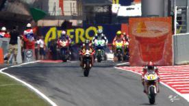 Na segunda sessão de livres do Gran Premi Aperol de Catalunya foi o piloto local Jorge Lorenzo quem assinou a melhor marca da sessão, e do dia, em condições de sol, batendo Álvaro Bautista.