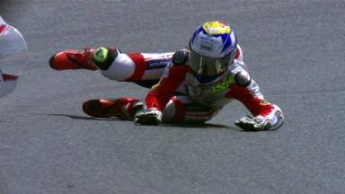 Catalunya 2012 - Moto2 - FP1 - Action - Randy Krummenacher - Crash