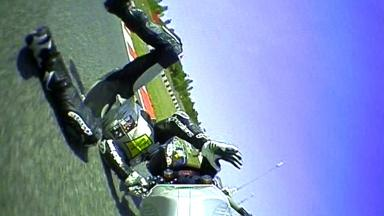 Catalunya 2012 - Moto2 - FP2 - Action - Thomas Luthi - Crash