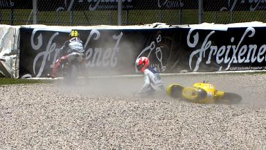 Catalunya 2012 - Moto3 - FP2 - Action - Luigi Morciano - Crash
