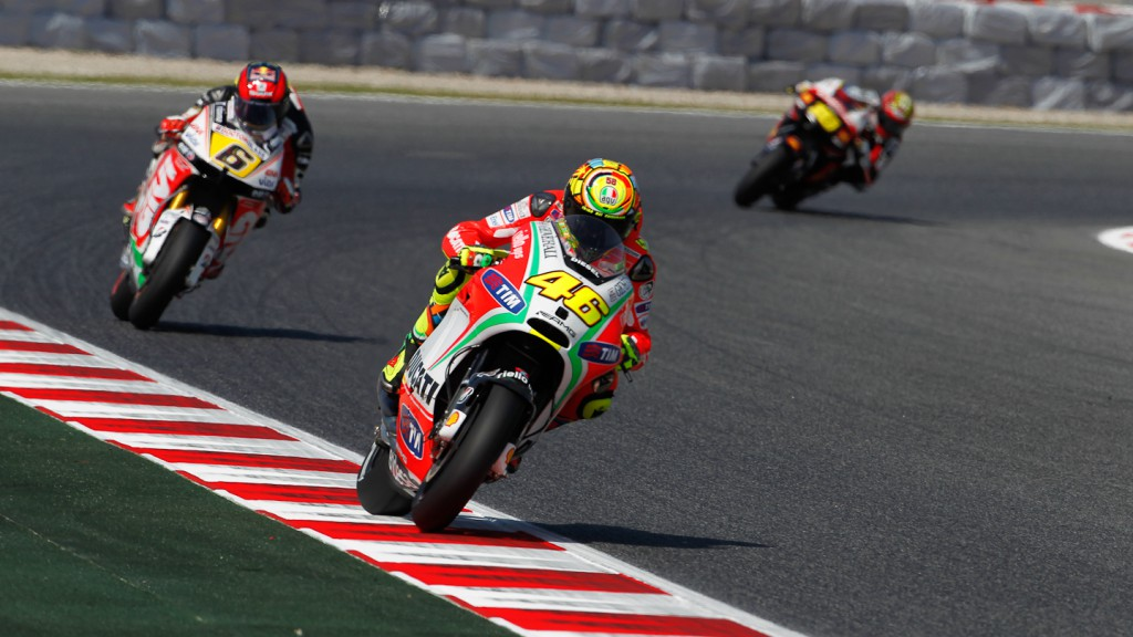 Valentino Rossi, Ducati Team, Catalunya Circuit FP1