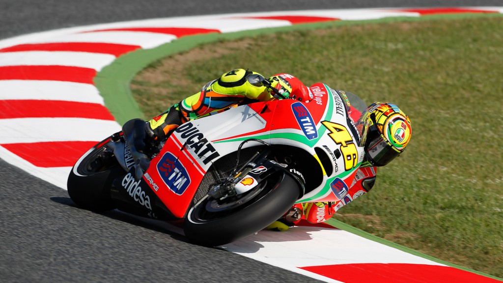 Valentino Rossi, Ducati Team, Catalunya Circuit FP2