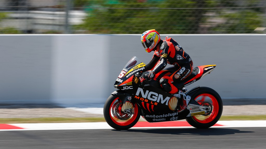 Alex de Angelis, NGM Mobile Forwards Racing, Catalunya Circuit QP