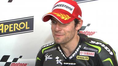 Crutchlow pleased with another front row