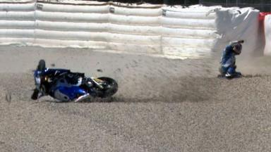 Catalunya 2012 - Moto2 - QP - Action - Julian Simon - Crash