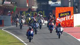 In once again sunny conditions it was Blusens Avintia's Maverick Viñales who went fastest in the final free practice session of the Gran Premi Aperol de Catalunya in front of AirAsia-SIC-Ajo's Zulfahmi Khairuddin.