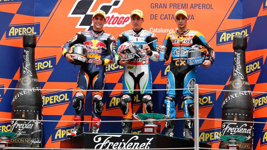 Cortese, Viñales, Oliveira, Red Bull KTM Ajo, Blusens Avintia, Estrella Galicia 0,0, Catalunya Circuit RAC
