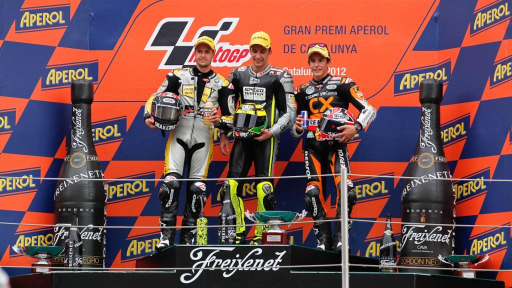 Luthi, Iannone Marquez, Interwetten-Paddock, Speed Master, Team CatalunyaCaixa Repsol, Catalunya Circuit RAC