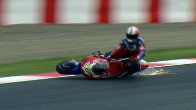 Catalunya 2012 - MotoGP - Warm Up - Action - James Ellison - Crash