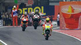 In a morning warm-up that coincided with the weekend's first rain at the Gran Premi Aperol de Catalunya, it was Cal Crutchlow that headed the MotoGP™ field ahead of Casey Stoner and Valentino Rossi.