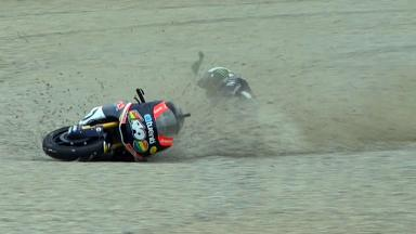 Catalunya 2012 - Moto2 - Race - Action - Pol Espargaro - Crash