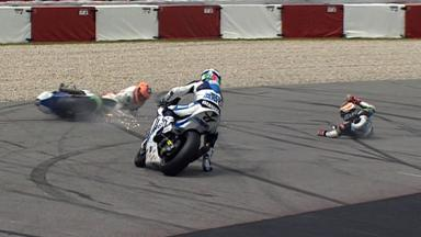 Catalunya 2012 - Moto2 - Race - Action - Simon and Rea - Crash