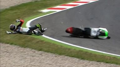 Catalunya 2012 - Moto3 - Race - Action - Brad Binder - Crash