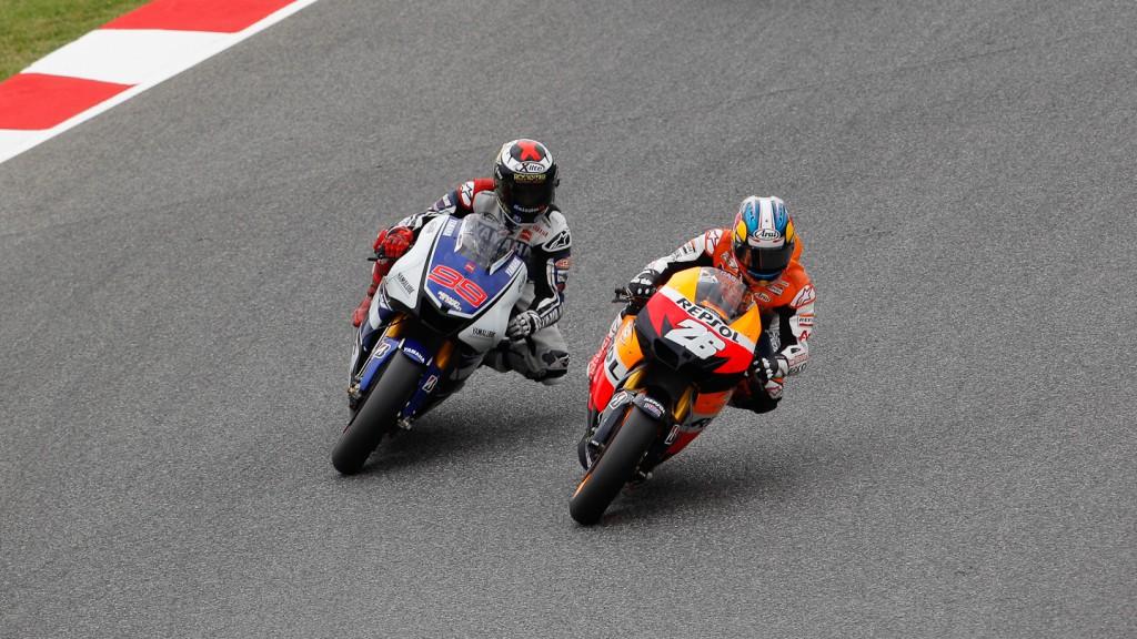 Jorge Lorenzo, Dani Pedrosa, Yamaha Factory Racing, Repsol Honda Team, Catalunya Circuit RAC