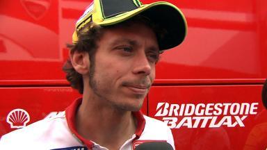 Rossi reviews Catalunya test