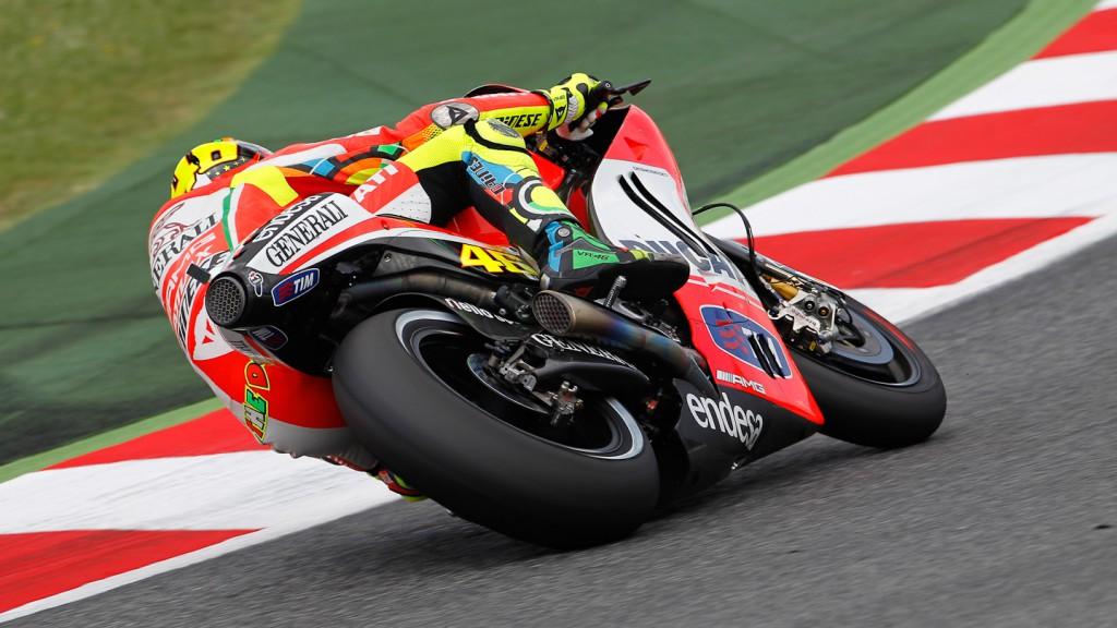 Valentino Rossi, Ducati Team, Catalunya Test
