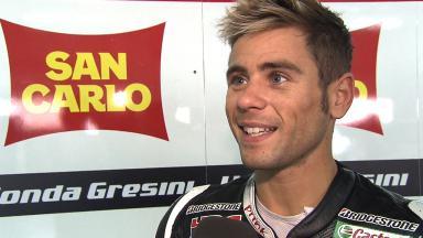 2012 - MotoGP - Test Aragon - Interview - Alvaro Bautista