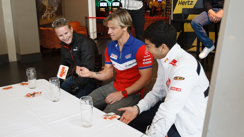 Danny Webb, James Ellison, Gino Rea, Hertz British Grand Prix Preevent