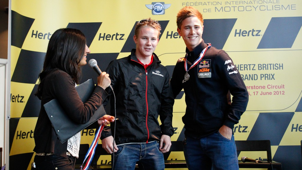 Danny Webb, Danny Kent, Mahindra Racing, Red Bull KTM Ajo, Hertz British Grand Prix Preevent