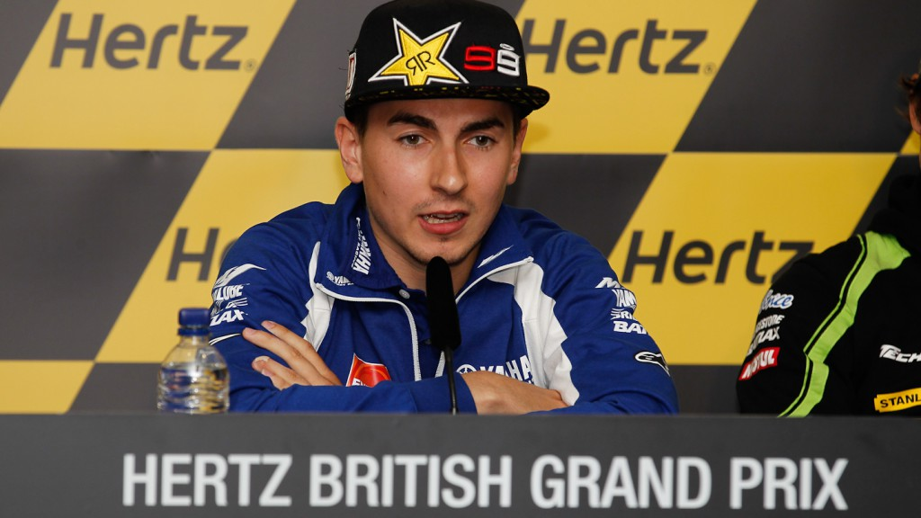 Jorge Lorenzo, Yamaha Factory Racing, Hertz British Grand Prix Press Conference