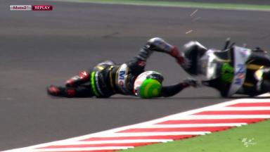 Silverstone 2012 - Moto2 - FP1 - Action - Eric Granado - Crash