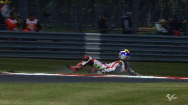 Silverstone 2012 - Moto2 - FP1 - Action - Randy Krummenacher - Crash