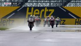 Pons 40 HP Tuenti's Pol Espargaró set the early pace in the first Moto2™ free practice session at the Hertz British Grand Prix in Silverstone ahead of Bradley Smith and Ricky Cardús.