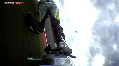 Silverstone 2012 - Moto2 - FP2 - Action - Thomas Luthi - Crash