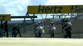 It was Pons 40 HP Tuenti's Pol Espargaró who topped the timesheets once again in the second Moto2™ free practice session of the Hertz British Grand Prix at Silverstone ahead of local riders Scott Redding and Bradley Smith.